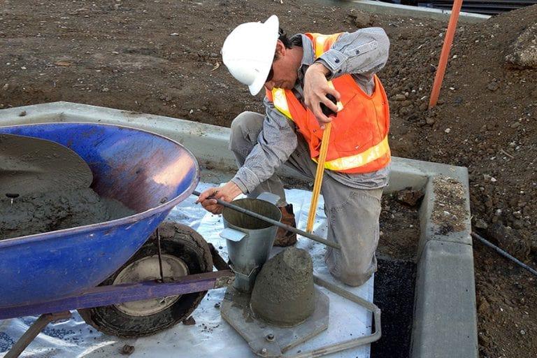 Метод определения качества строительных растворов калибр бетона